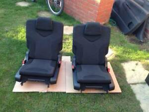2 x PEUGEOT 308 SW ESTATE 2008-2014 GENUINE 3RD ROW SEATS,6&7 EXTRA BOOT SEATS .
