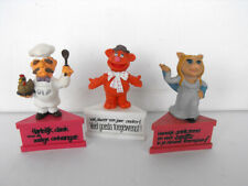 Muppets SWEDISH CHEF FOZZIE PIGGY pvc figures with stand 80's SCHLEICH Germany