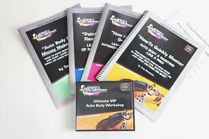NEW Learn Auto Body Repair & Paint DVD Tool Set, Manuals +FREE Training Videos