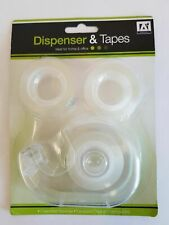 3pc Mini Tape With Dispenser Desktop Office Sellotape Sticky Tape Pack