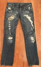 Eighth Sin Jeans Size 29 Distressed Low Rise Skinny missed Front Button B-6