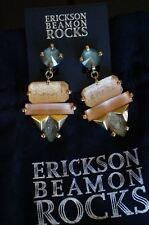Lily Multi Stone Non Pierced Earrings New W. Pouch Erickson Beamon Rocks Gilded