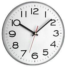 TFA 60.3017 Wanduhr, weiß, Küchenuhr, Bürouhr, großes Zifferblatt, Ø 28 cm, NEU