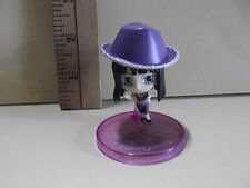 """#A375 Unknown Anime 2.25""""in Black Hair Girl Purple Hat"""
