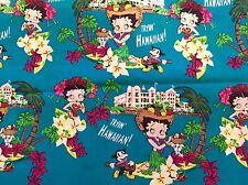 FQ Betty Boop Hawai Hula Flores Chicas Personaje De Tela