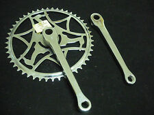 """Vintage Raleigh bicycle Chainwheel Sets 48T-6 1/2"""" arm 1960s NOS made in England"""
