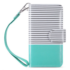 ULAK Flip Wallet Case for iPod Touch 5 & 6, Premium PU Leather with Kickstand Ca