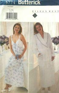 Butterick Misses' Nightgown & Robe Pattern 5774 Size L-XL UNCUT