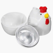 Creative Cute Chicken Shaped Egg Boiler Steamer Microwave Kitchen Cooking Tool
