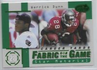 1999 Leaf Certified Warrick Dunn Fabric Of The Game Insert SP /750 FG65