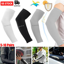 5/10 Pairs Cooling Arm Sleeves Cover Basketball Golf Sport UV Sun Protection Men