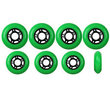 Outdoor Inline Skate Wheels 72mm / 80mm 89A Green HILO SET Rollerblade Hockey