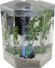 New listing Bubbling Led aquarium Kit 1 Gallon Hexagon Shape With Color-Changing Light