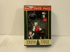 Coca-Cola Trim A Tree Collection Polar Bear Penguins Christmas Ornament ch854