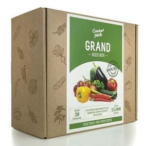 Garden Pack Grand Seed & Gardening Accessories Kit 30 Varieties Vegetables Herbs