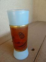 Vintage Retro Siesta Ware Tiki Glass  Tropical Mahogany Grip Tall Highball Blue