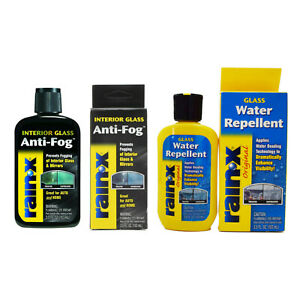 Rain-X Original Water Repellent Treatment & Interior Glass Mirrors Anti-Fog Set