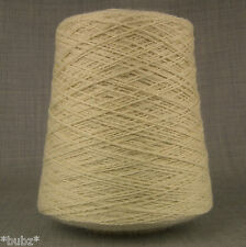 4 Ply Pure Wool Yarn 500g Cone 10 Ball Undyed Ecru Natural Cream Knitting Dyeing