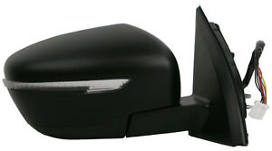 For Nissan Qashqai Mk2 SUV 2014-> Electric Wing Door Mirror Primed Right OS