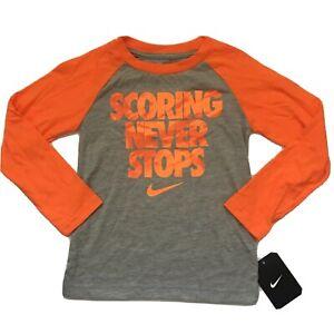 Nike Long Sleeved Shirt, Kids Size 4, Gray, Orange, $20 Gift Athletic, Scoring M