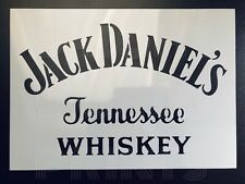 Jack Daniels A4 Stencil Airbrush Tennessee Whiskey Logo Pub Sign Wall Art Deco