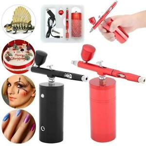 Airbrush Air Compressor Kit Set Dual Action 0.3mm Nozzle Spray Painting Tattoo