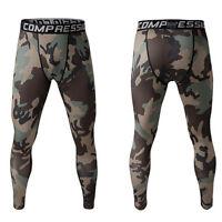 Jungle Camo Men Compression Pants Base Layer Skin Tights Running Yoga Gym Wear