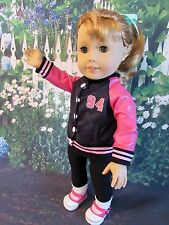 "50s Inspired Varsity Jacket for American Girl Doll Maryellen or Other 18"" Dolls"