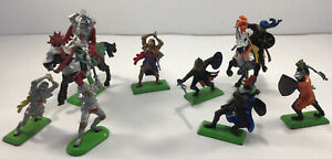 Mixed Lot of 6x Britains Toy Foot Soldier /2 Knights - Deetail Made in England