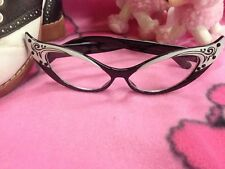 Black Cateye Glasses - Retro - Brand New - Ships Free