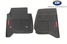 2014-2018 GMC Sierra Premium All Weather Floor Mats 23452764 Black w/ GMC Logo