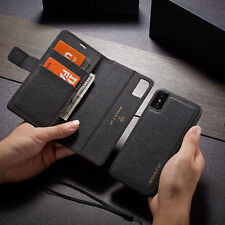 For iPhone XS Max X 8 7 6 Leather Removable Card Wallet Magnetic Flip Case Cover