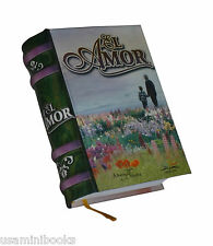 """New Excelente Libro coleccionable miniatura pasta dura """"El Amor"""" 425 paginas"""