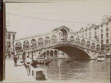 Italie, Venise, Pont du Rialto, ca.1905, vintage citrate print Vintage citrate p