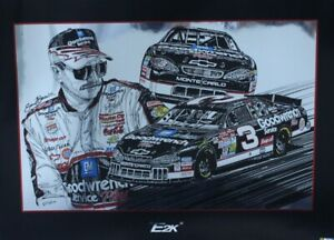"""Dale Earnhardt 2000 """"E2K"""" Original Sam Bass 21"""" X 29"""" Print"""