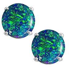 @@ Wholesale Genuine Round Opal Stud Earrings with certificate