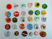 Pin-Back Buttons LOT of 30 Random pins Alberta Olympic Energy Derby Travel Santa