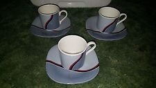 6 Pieces Lot Mikasa Tempo Eighty Sonar Tea Coffee Cup & Suacer Plate CE 910