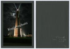 Or PHOTO Borkum Large Lighthouse Night recording Light North Sea handsign. Num. 2004