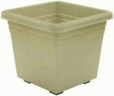 "Southern Patio Dp1510Og Medallion Plastic Deck Planter, 15"", Olive Green"