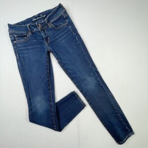 American Eagle Outfitters Womens Slim Skinny Jeans Blue Stretch Low Rise Denim 8