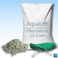 ZEOLITH 2,5-5 MM 25 KG + 2x Filtersäcke XL Filtermaterial Koi Teich Aquarium