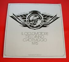 PIAGGIO CIAO Ciclomotore dell'Anno 1975 FOLDER PR Pubblicità Moto LIBRO MOTORINO