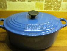 Le Creuset Blue Cast Iron Oval Casserole Dish -  23 cm