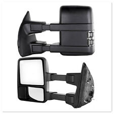 For 08-16 Ford Superduty F250-550 Power+Heated+Smoke Turn Signal Towing Mirrors