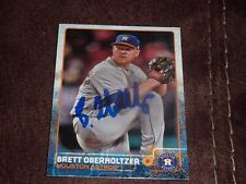 BRETT OBERHOLTZER SIGNED BASEBALL CARD 2015 TOPPS AUTOGRAPHED ASTROS