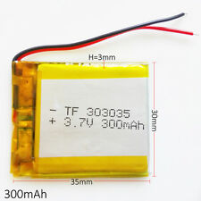 300mAh 3.7V LiPo Polymer Battery for Bluetooth Pen MP3 MP4 MID GPS PAD 303035