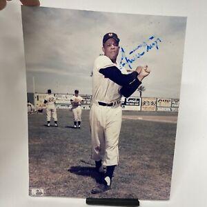Willie Mays Autographed 8X10 Photo San Francisco Giants COA Worn Auto