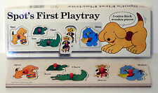 Vintage 1986 Spot's First Playtray 5 Piece Pre-School Puzzle - Michael Stanfield