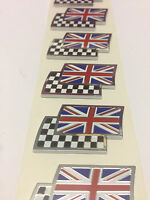 Genuine MG Rover Union Jack & Chequered Flag Enamel Badge DAG000070 NEW